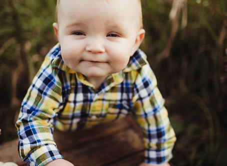 Indy Family Photographer | Milestone Sprout Session | Parker Turns 8 Months Old