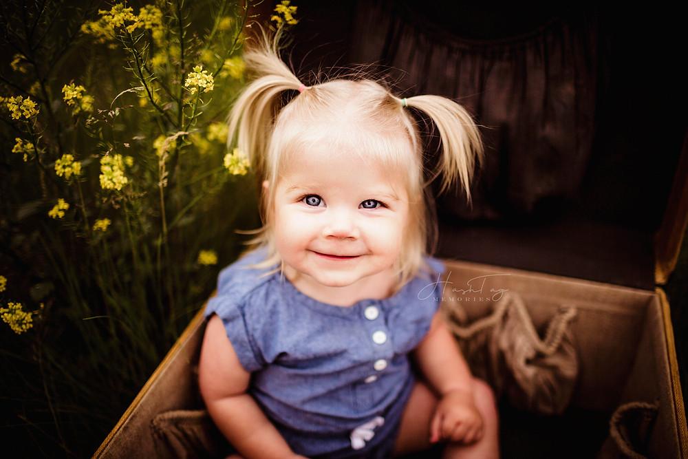 toddler summer portrait, milestone session in Carmel, indiana