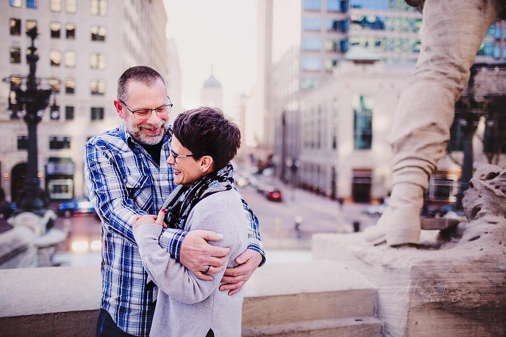 Indianapolis Wedding Photographer, Monument Circle Engagement Session, Noblesville Photographer