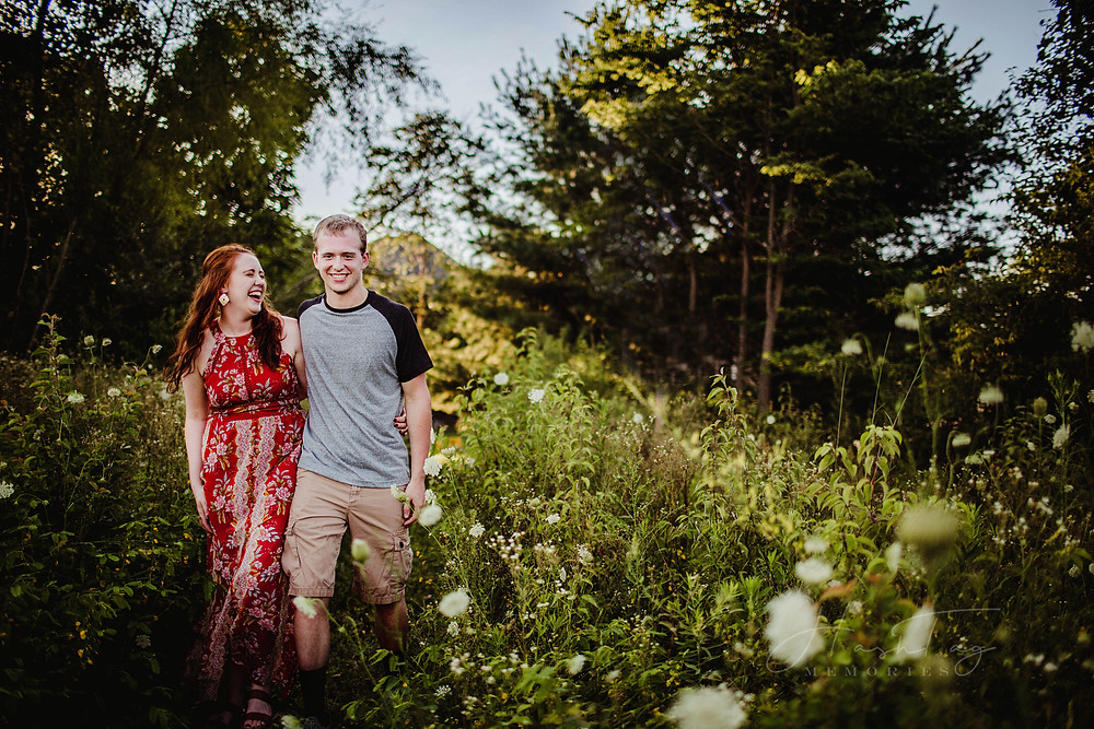 Carmel Engagement Photos and Indianapolis Wedding Photographer at Coxhall Gardens