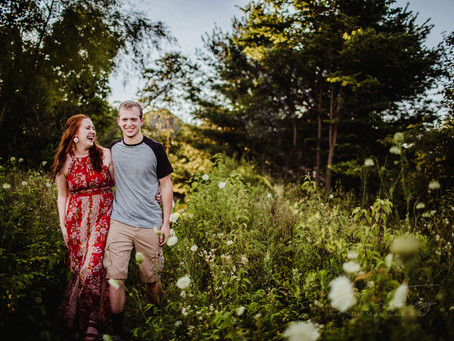 Indy Barn and Wildflower Field Engagement, Timberlee & Jordan | Indianapolis Wedding Photographer