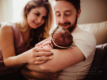 Newborn Lifestyle Photography in Westfield, IN, Baby Kessler Has Arrived | Welcome Baby Girl