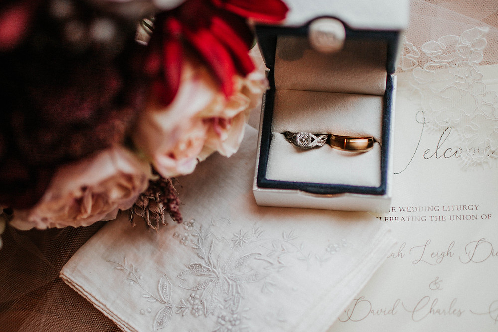 moyer wedding rings in carmel, indiana wedding, brides details