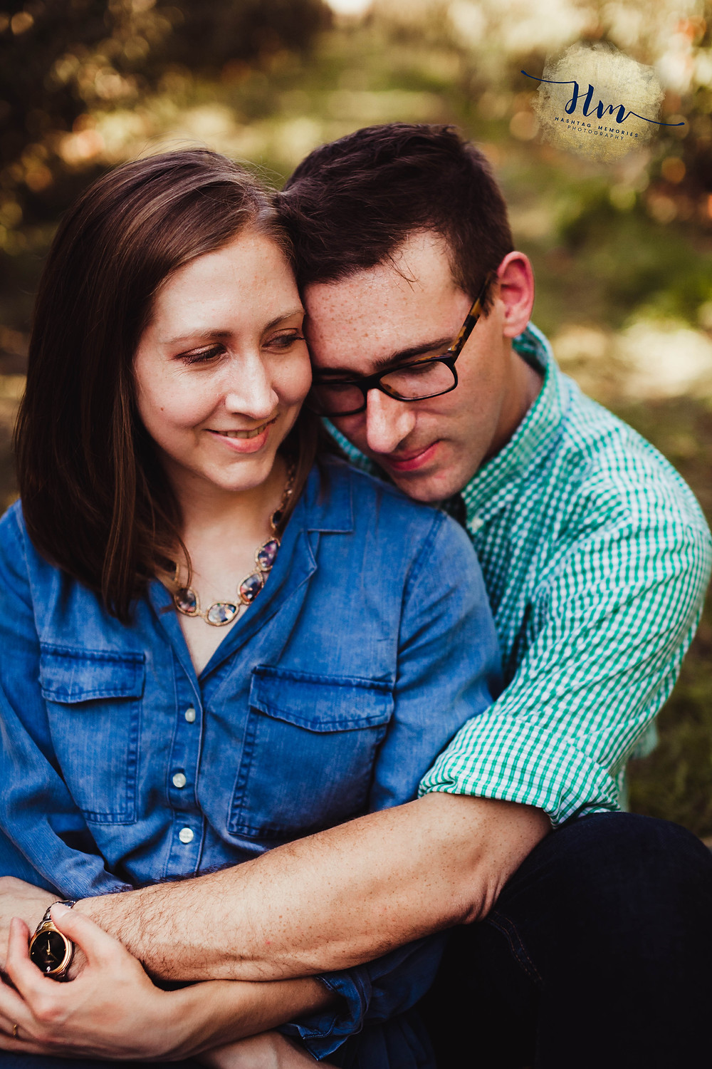 fall engagement photos in Indianapolis at Tuttle Orchard
