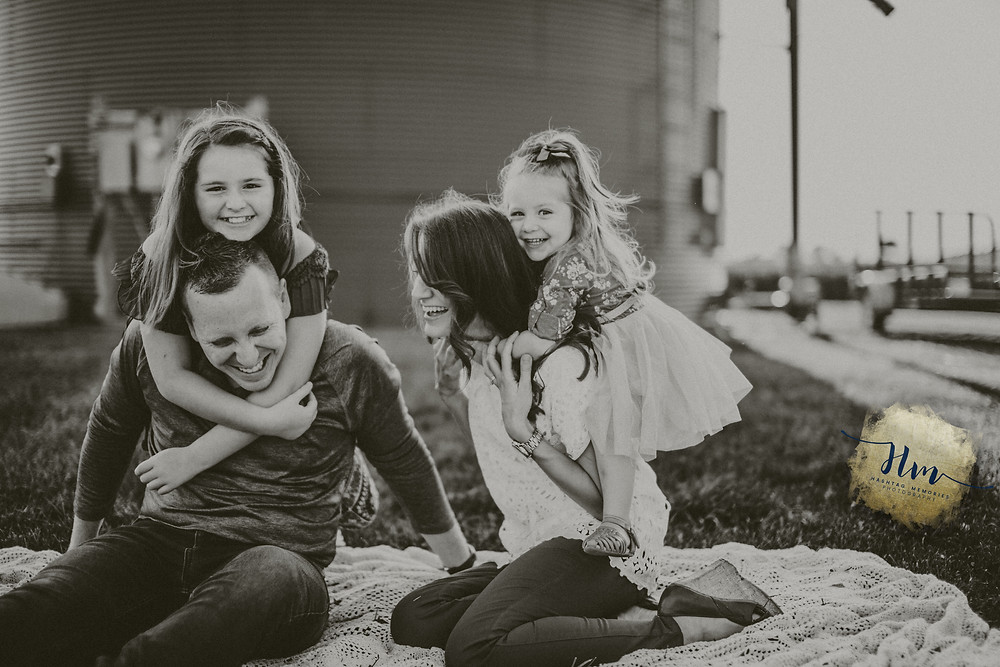 Indy Family Photography, Little Girl and Mom, Sisters, Barn Silo