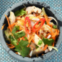 Signature Vietnamese Chicken Salad With Fish Sauce.