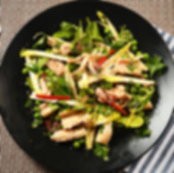Grilled calamari salad with spicy herb lime dressing. Classic Plan