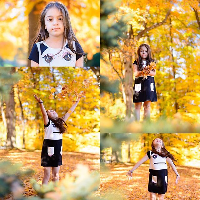 We had fun today _) My little one loves leaves 🍃 And what a gorgeous day today ! #leaves #fall #bea