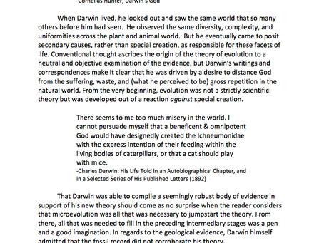 Darwin the Theologian