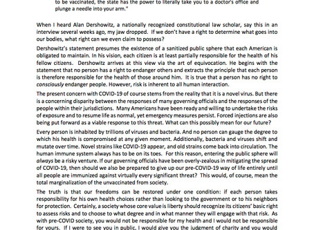 Dershowitz's Dystopia