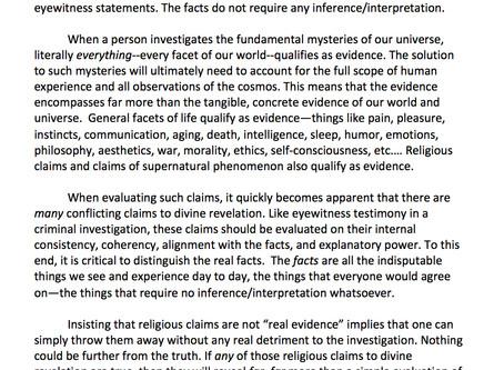 Facts v. Evidence