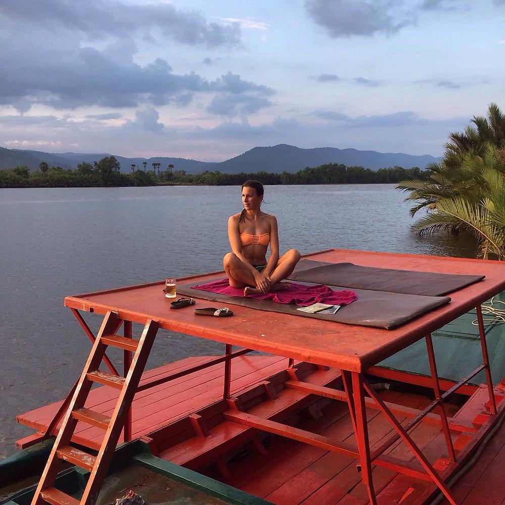 elaxing in Kempot, Cambodia