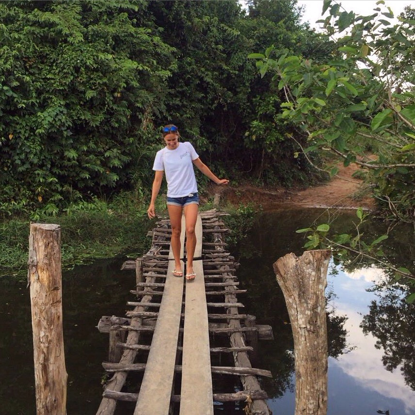On my way to a hidden coffee shop in Kep, Cambodia