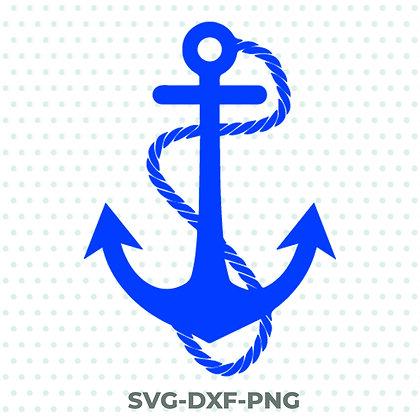 Anchor Design - SVG / DXF / PNG Sea Boat