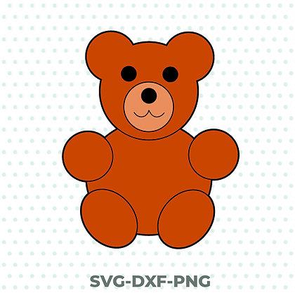 Cute Teddy Bear Design - SVG / DXF / PNG