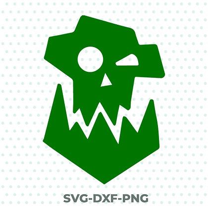 Warhammer Ork Design - SVG / DXF / PNG 40k Orcs