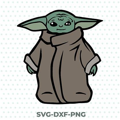Baby Yoda Color Design - SVG / DXF / PNG Star Wars Mandalorian