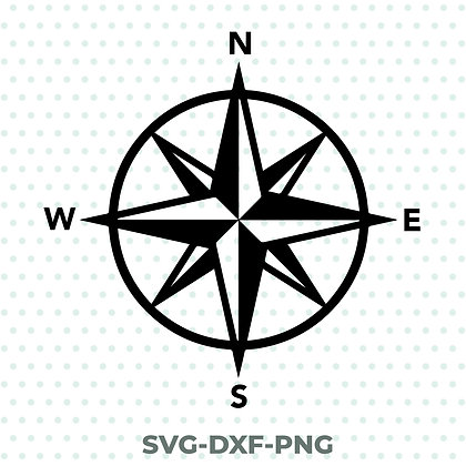 Compass Rose SVG / DXF / PNG