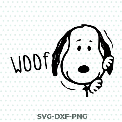 Woof Snoopy Dog SVG / DXF / PNG