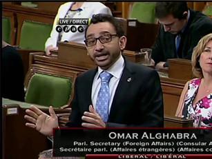Omar Alghabra Welcomes Kevin Garratt to Ottawa