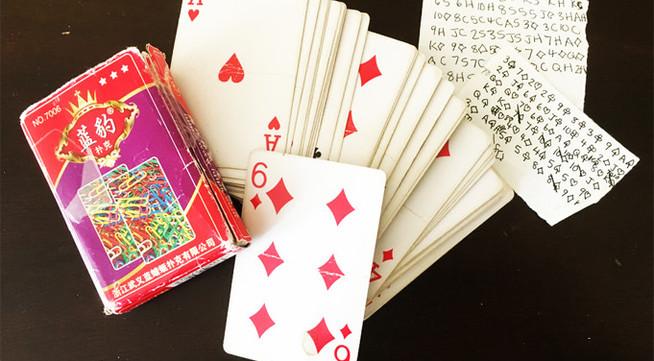 Julia's 'praying cards' during captivity