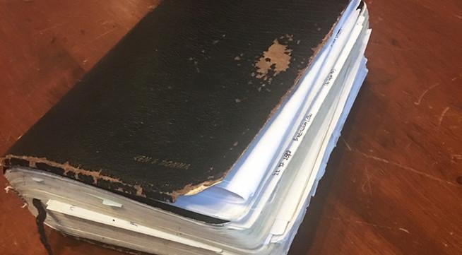 Kevin's returned prison Bible & notes