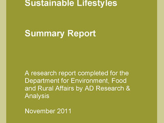 Habits, Routines and Sustainable Lifestyles: Summary Report