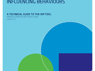 Influencing Behaviours: A Technical Guide to the ISM Tool