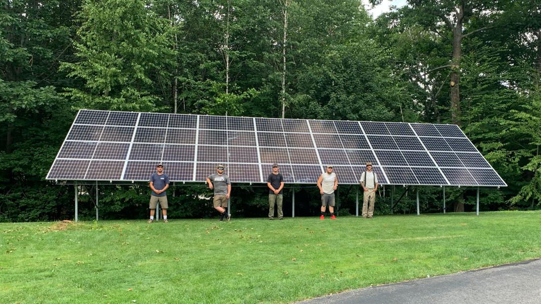 granite state solar crew ground mount solar panels new hampshire