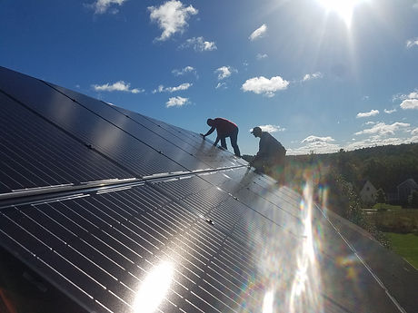 Roof Mount Solar Install
