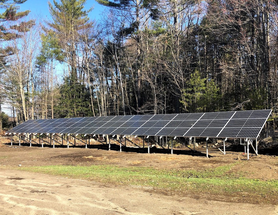 Ground mount solar array in New Hampshire