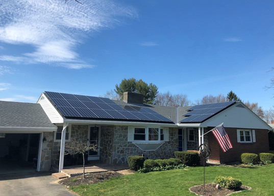 solar panels on roof new hampshire home