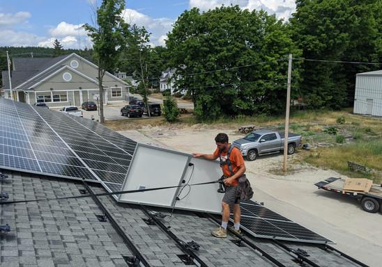 installing solar panels new hampshire roof