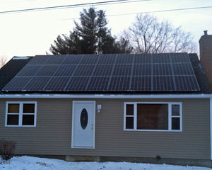 Roofmount solar array
