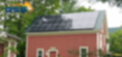 Solar panels on a home in Campton NH