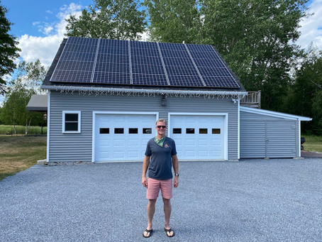 Vermont Fitness Director Gets an Edge from Solar Energy at Home