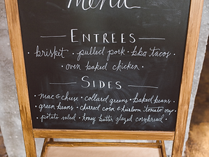Handlettered Dinner Menu