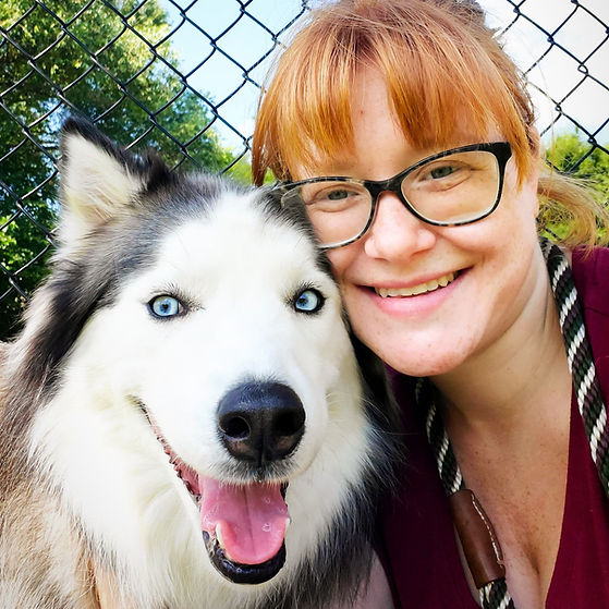 Annie the Husky and Brooke Baran