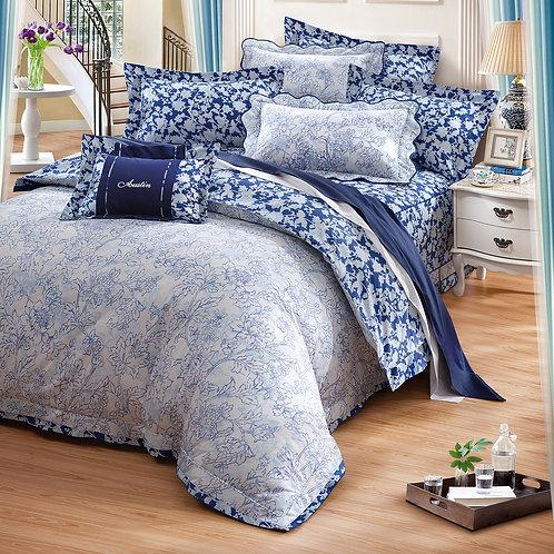 藍之夢七件式床罩組