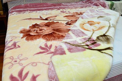 雙面立體雕花毛毯