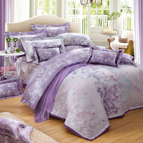 楓糖滋味(紫色)七件式床罩組