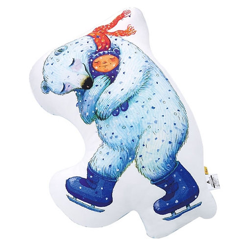 【繪見幾米】獨家限定 擁抱擁抱 擁抱北極熊造型抱枕