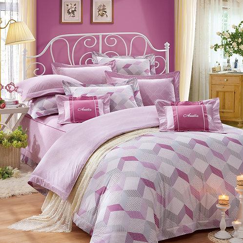 俏皮部落(粉)七件式床罩組