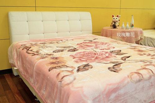 立體雕花毛毯