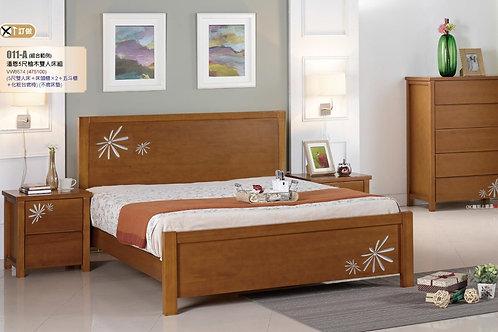 潘恩柚木雙人床