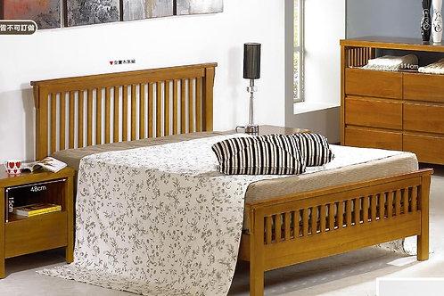 魯那柚木雙人床