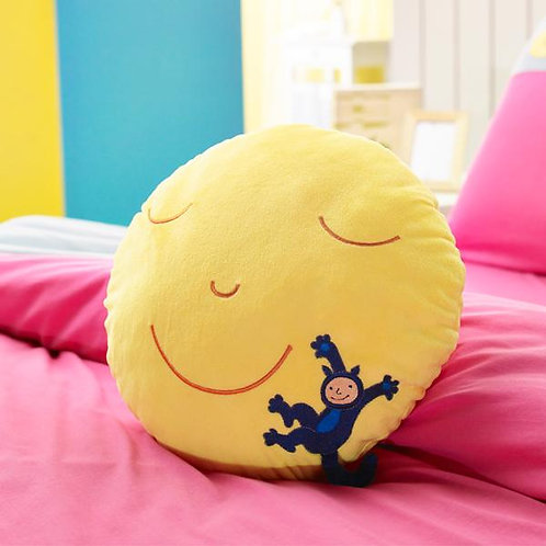 【繪見幾米】月亮忘記了 月亮微笑-圓型抱枕/單顆