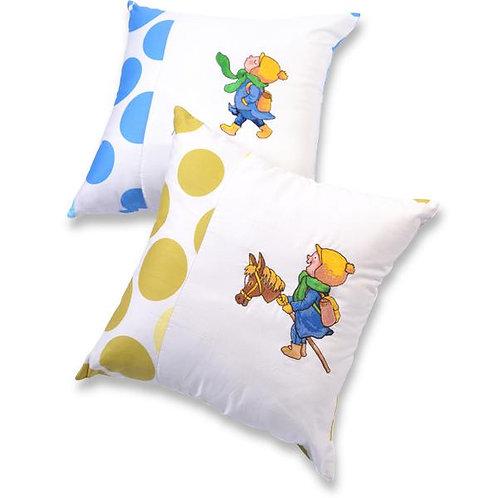 【繪見幾米】躲進世界的角落 遊戲男孩-刺繡抱枕/單顆
