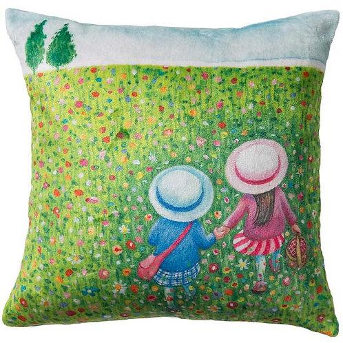【繪見幾米】2015新款 繽紛春天 法蘭絨數位抱枕/單顆