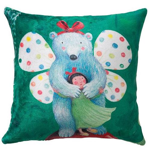 【繪見幾米】2015新款 蝴蝶熊 法蘭絨數位抱枕/單顆